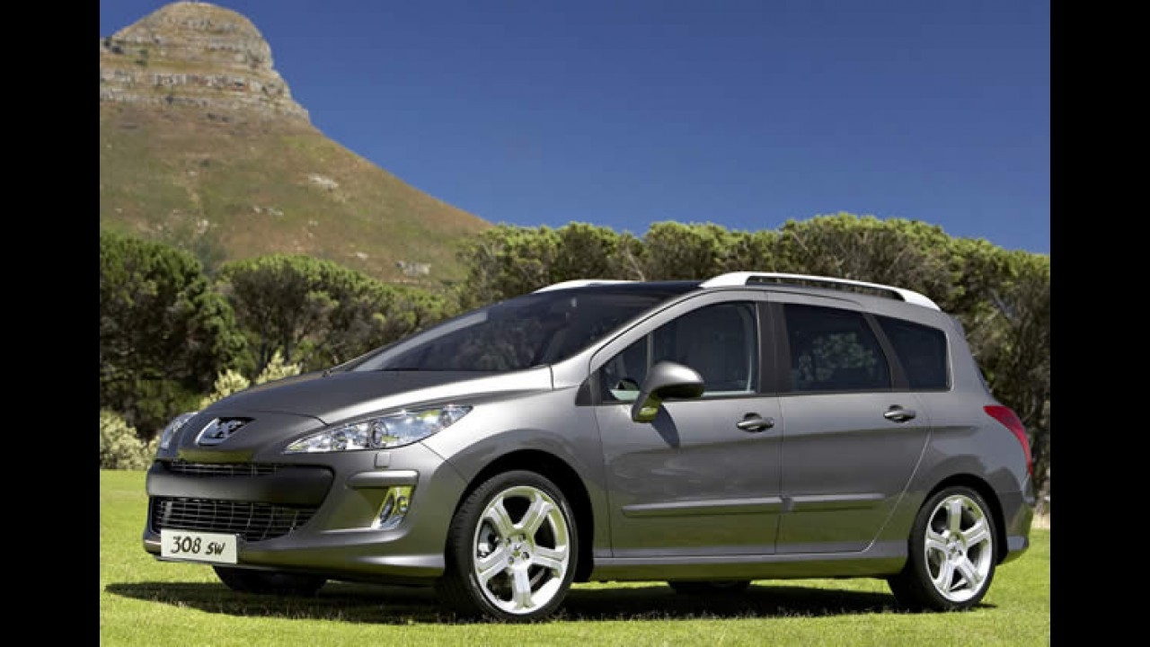 Peugeot 308 SW é flagrada sem disfarces no Brasil