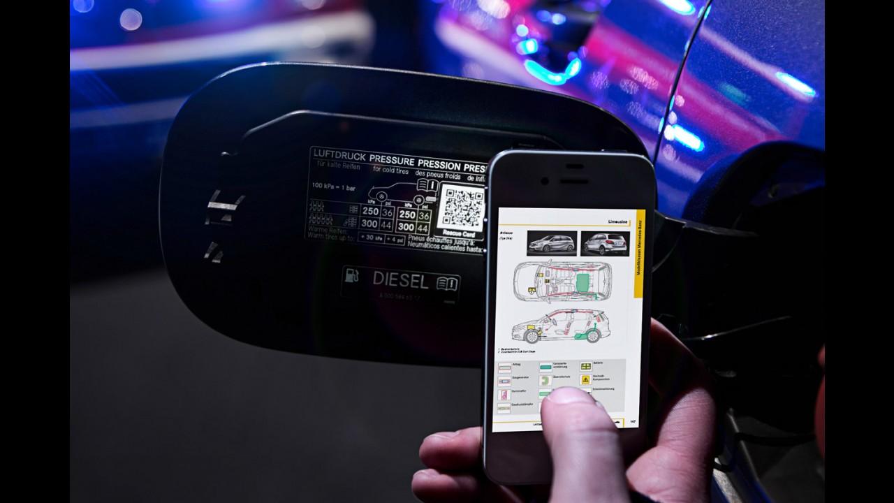 Mercedes usará QR Codes para ajudar vítimas de acidentes