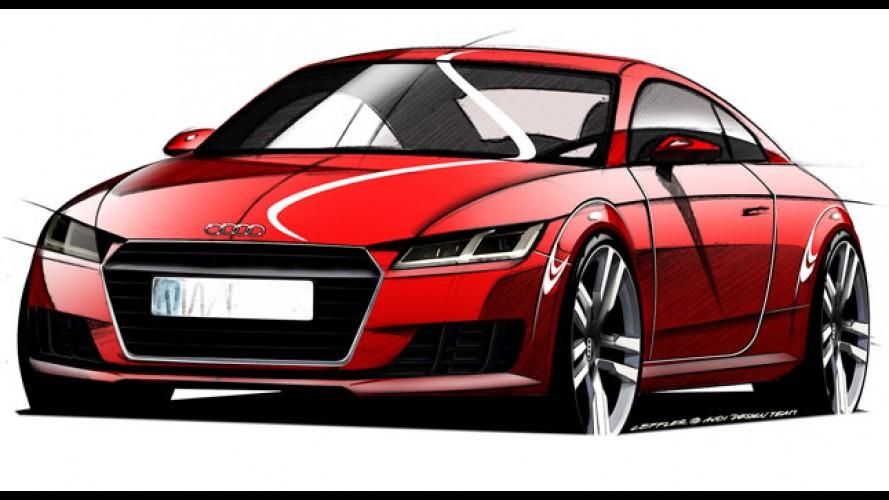 Audi TT 2015: esboço oficial vaza revelando novo estilo