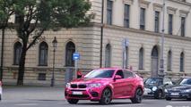 BMW X6 M with pink chrome wrap