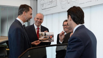 Kind Felipe VI of Spain meets his first vehicle