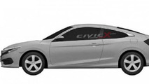 Next generation Honda Civic Coupe patent sketch