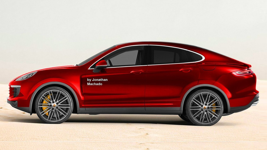 Porsche Cayenne Coupe render tries to predict the future