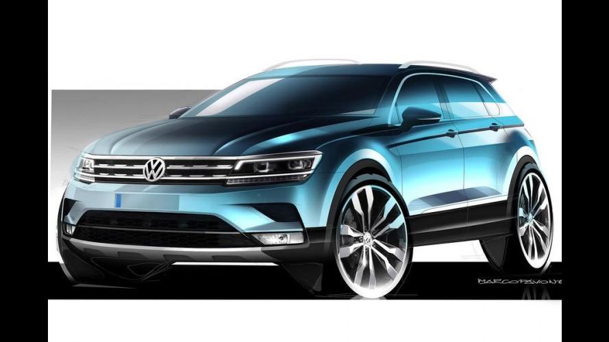 Oficial: VW libera primeiros esboços do novo Tiguan 2016