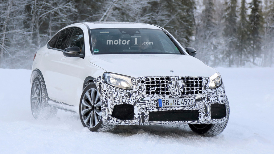 Hot Mercedes-AMG GLC 63 Coupe spied in the cold