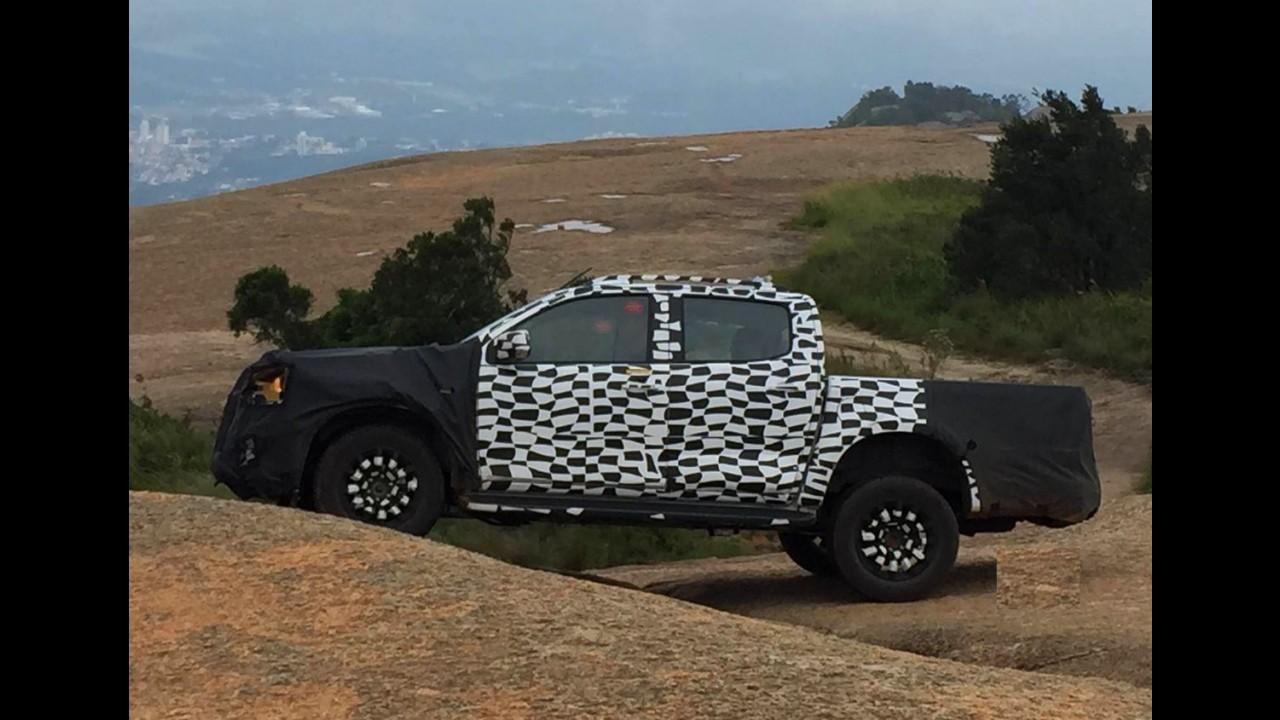 Flagra: Chevrolet S10 reestilizada é clicada antes da estreia