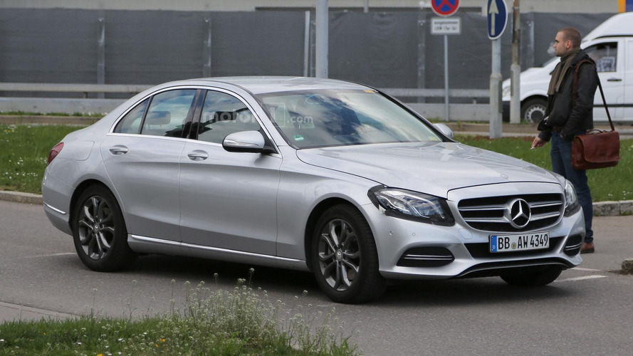 Mercedes C Class facelift spied for the first time