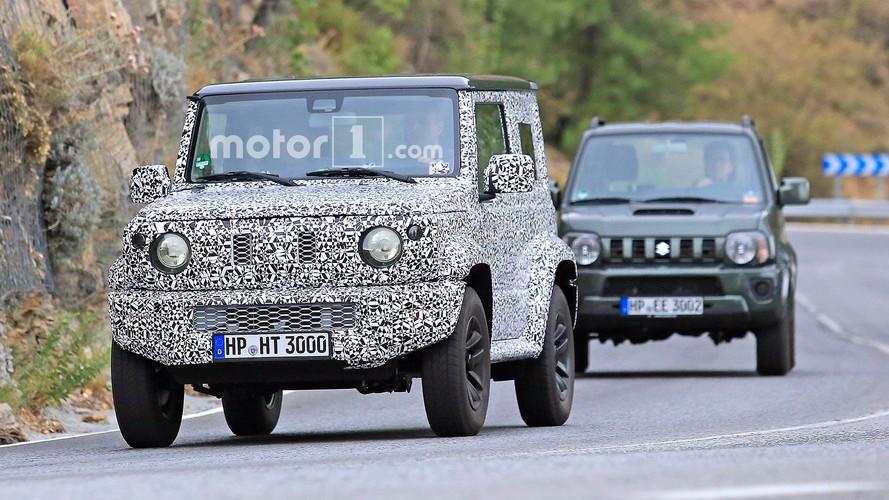Flagra - Novo Suzuki Jimny aparece em testes junto com o atual