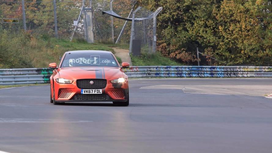 Jaguar XE SV Project 8 Nurburgring Spy Photos