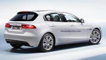 Jaguar XD rendered as a BMW 1-Series rival