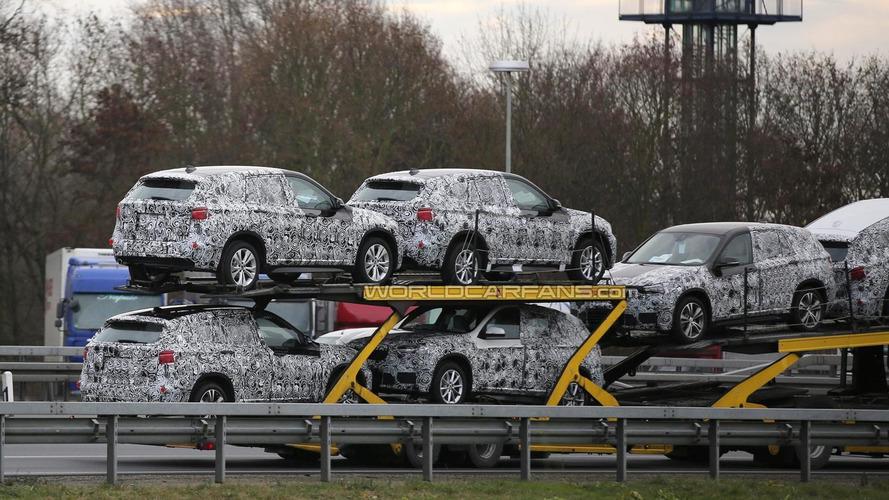 2016 BMW X1 prototypes spied on a trailer