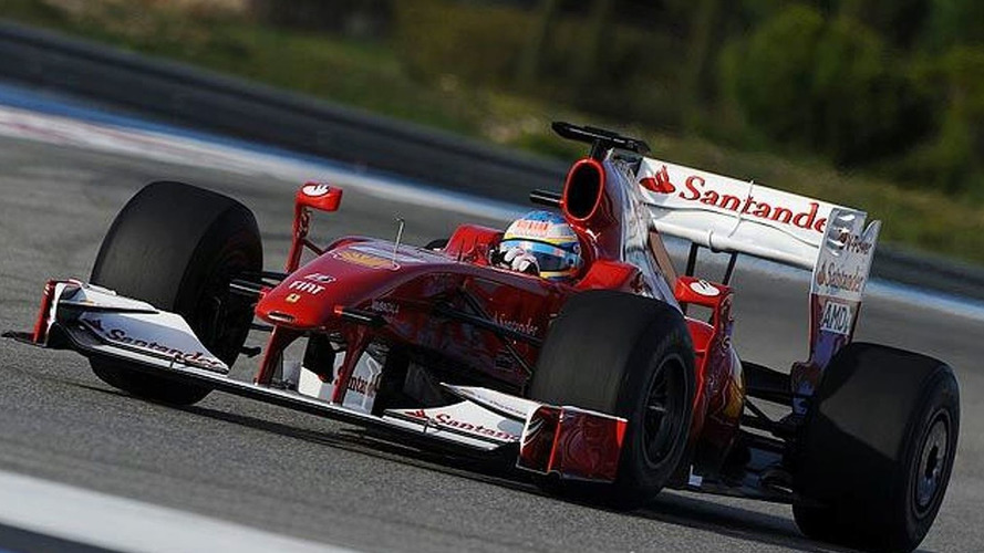Ferrari 2010 livery revealed during Alonso F60 test