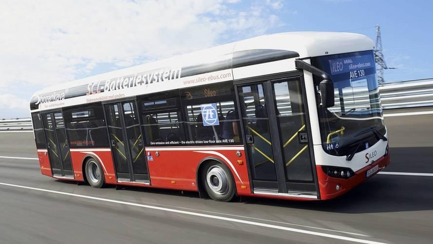 Bir elektrikli otobüs de Türkiye'den geliyor.