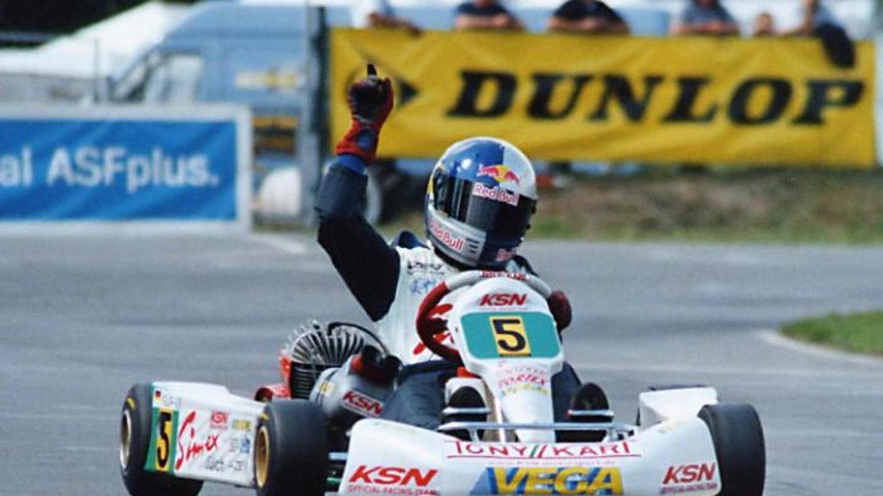 Sebastian Vettel in 2001 where he was German Junior Champion.