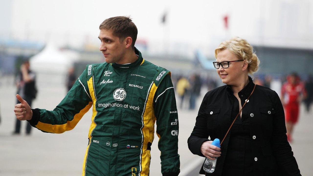 Oksana Kosachenko Manager of Vitaly Petrov 14.04.2012 Chinese Grand Prix