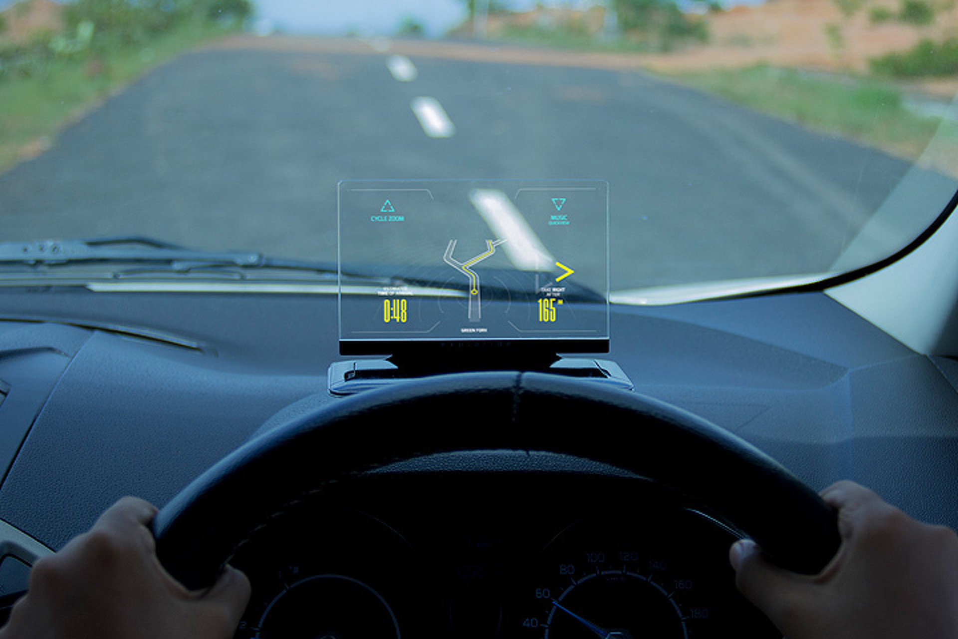 Exploride Gives Older Cars Sleek, Inexpensive Head-Up Display