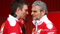 James Allison, Ferrari Chassis Technical Director with Maurizio Arrivabene, Ferrari Team Principal