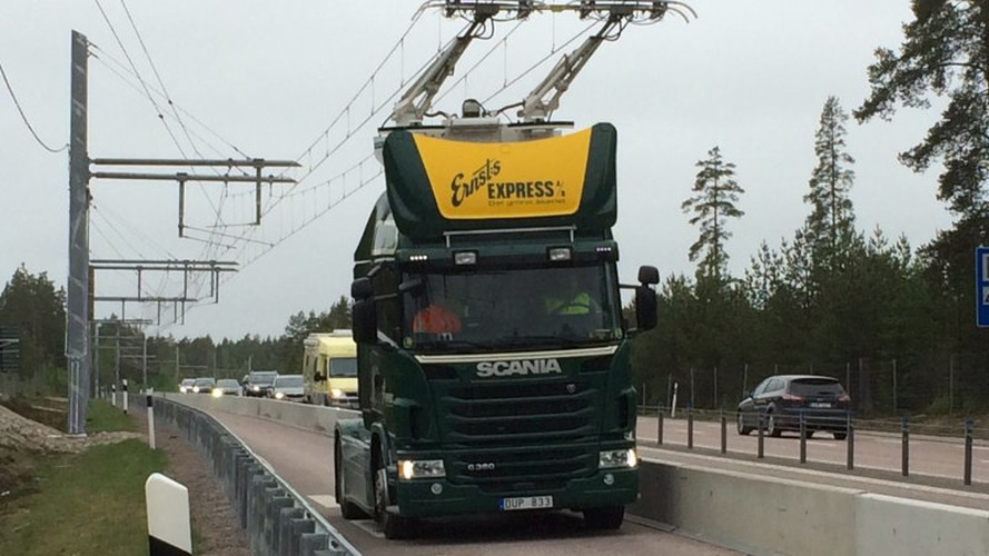 Sweden testing electric trucks on wired roads