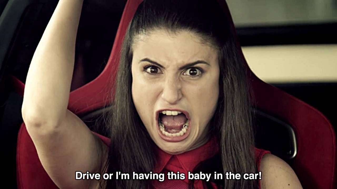 Honda Civic Type R fake pregnancy commercial