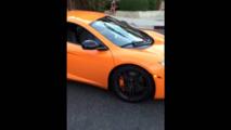 McLaren 12C windshield smashed