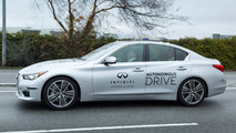 Carlos Ghosn drives Infiniti Q50 autonomous prototype
