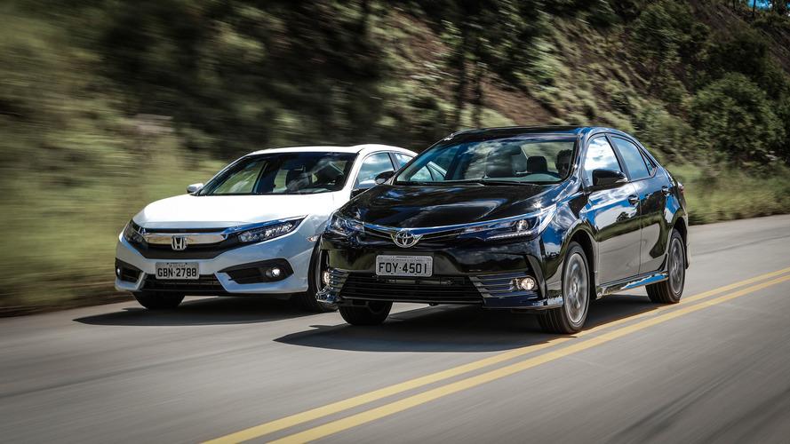 Semana Motor1 - Comparativo Corolla XRS x Civic EXL, outlet da Ford CAOA,