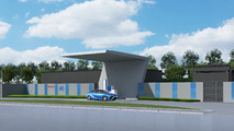Artist impression of completed Toyota hydrogen station in China
