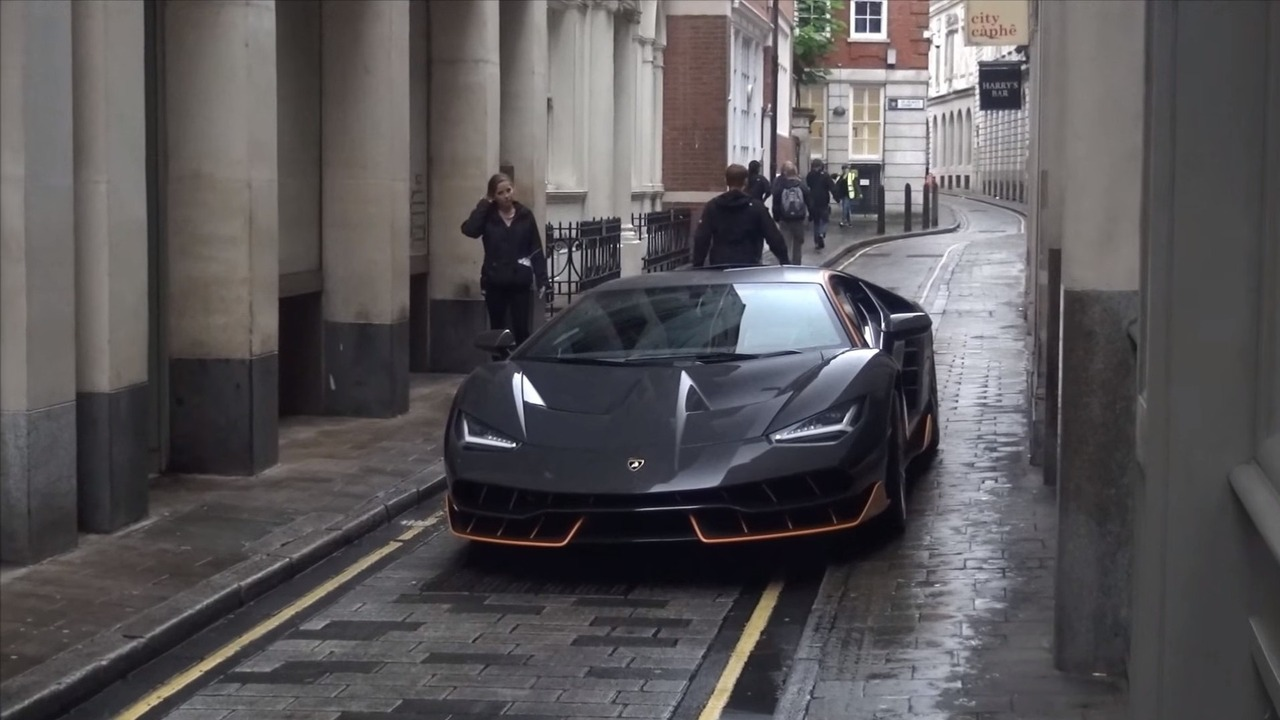 Lamborghini Centenario Coupe on set of Transformers 5