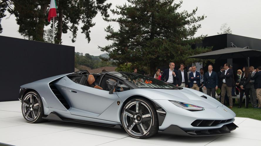 Monterey Car Week : La Lamborghini Centenario Roadster présentée pour la première fois