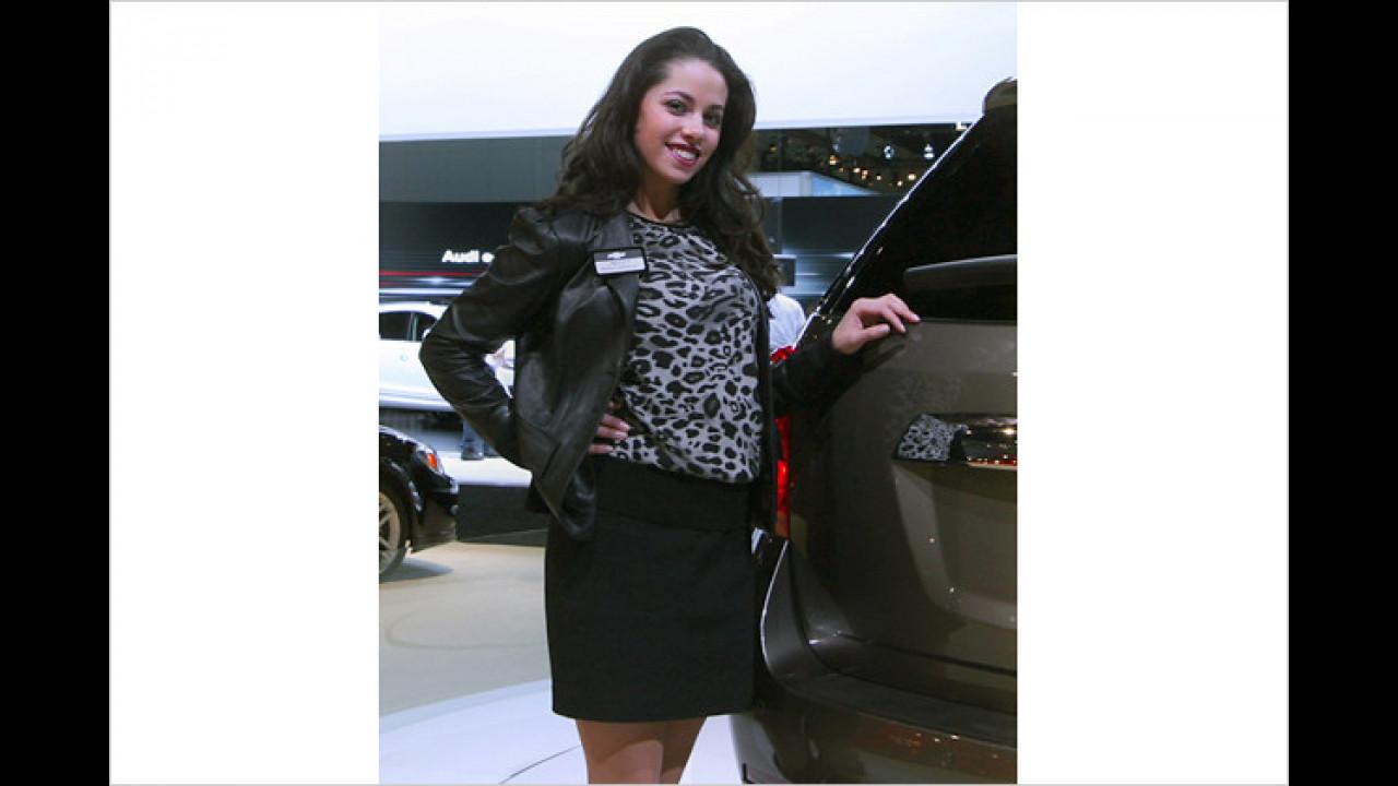 Auch Chevrolet hat schöne Exponate mitgebracht ...