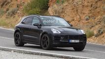 2018 Porsche Macan makyajı casus fotoğraflar