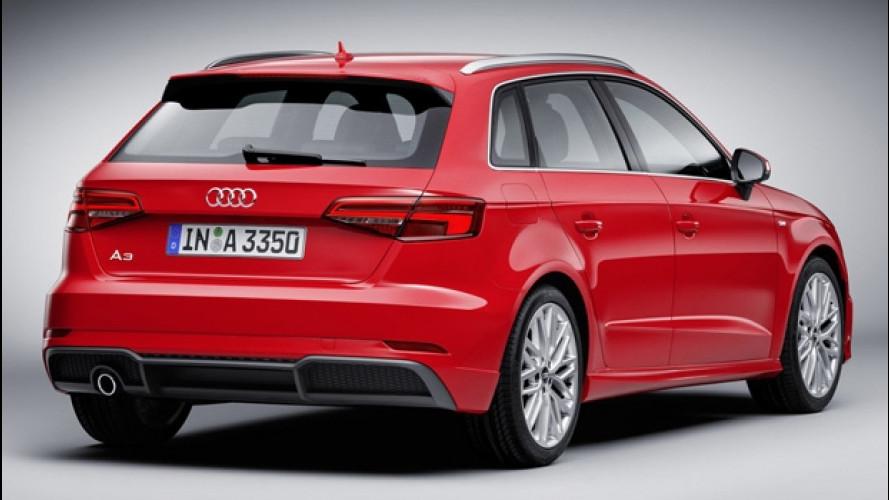 Audi A3 restyling, prezzi da 27.800 euro