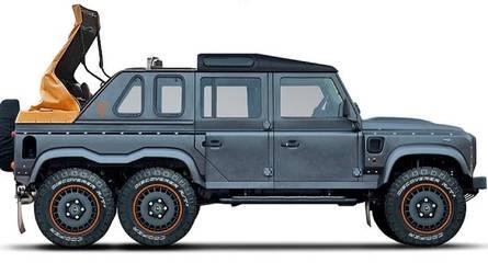 Sí, es un Land Rover Defender y no Mercedes-Maybach G 650 Landaulet