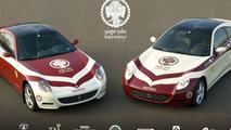 Two 612 Ferrari Scagliettis