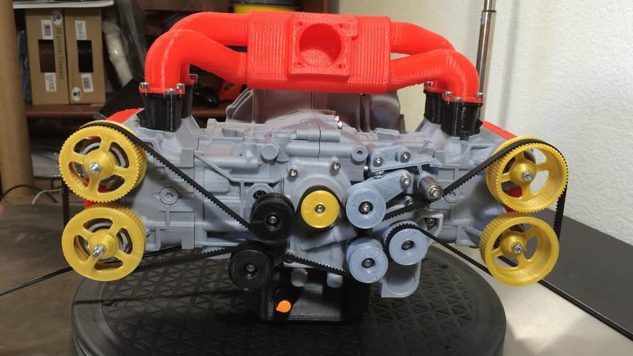 3D yazıcıyla yapılan Subaru motoru neredeyse tamamen çalışıyor