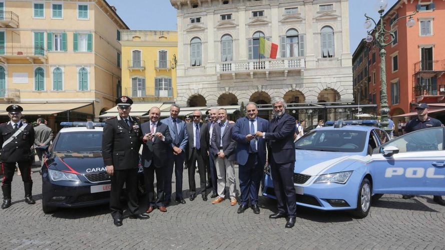 SEAT unveils their Leon police cars for the Carabinieri & the Polizia di Stato