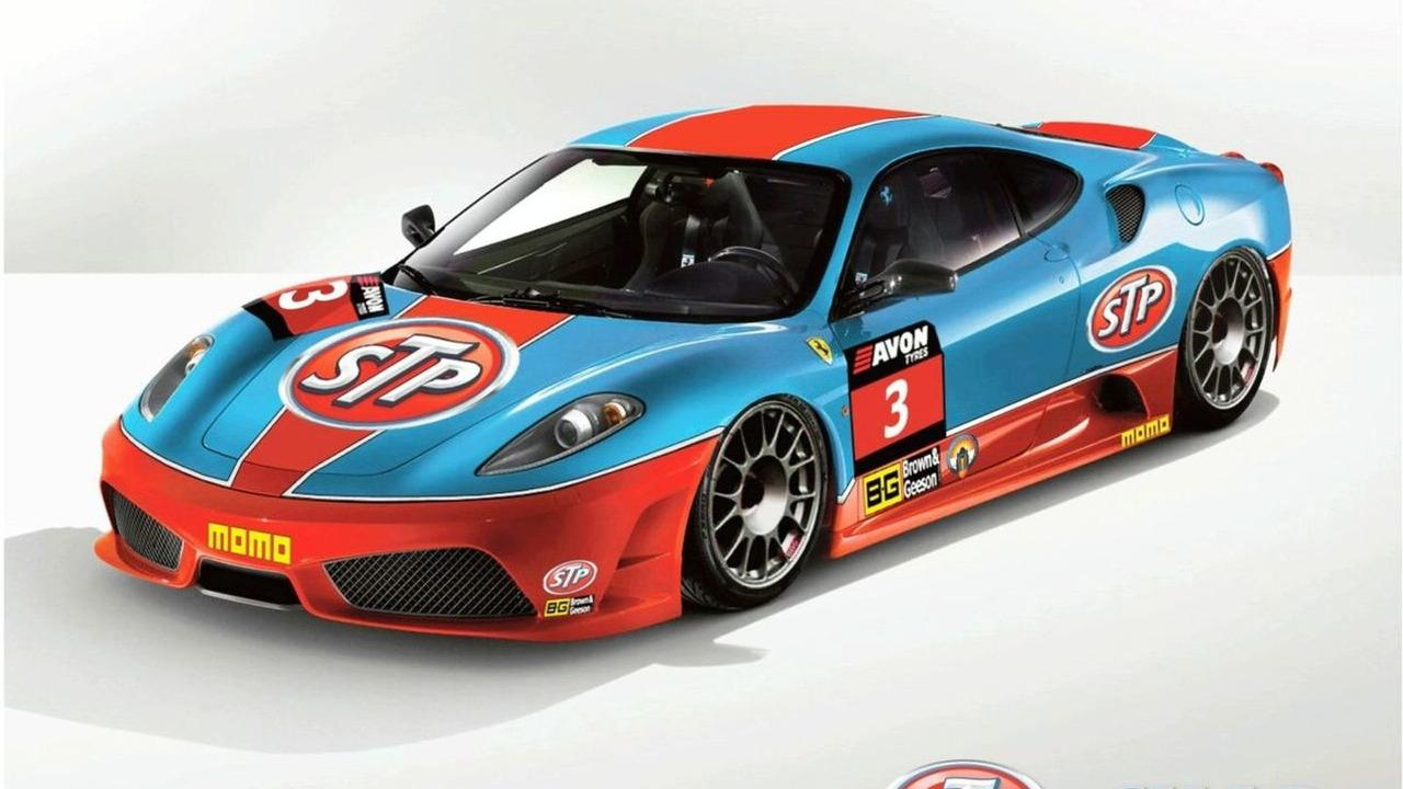 Chad Racing Ferrari 430 Scuderia GT3 with classic STP livery