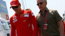 Kimi Raikkonen (FIN), Räikkönen, Scuderia Ferrari and David Robertson (GBR), Manager of Kimi Raikkonen, Spanish Grand Prix, Thursday, 24.04.2008 Barcelona, Spain