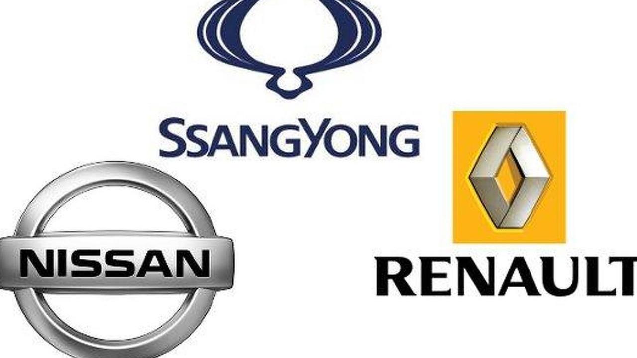 Renault, Nissan, Ssangyong logos, 600, 08.06.2010