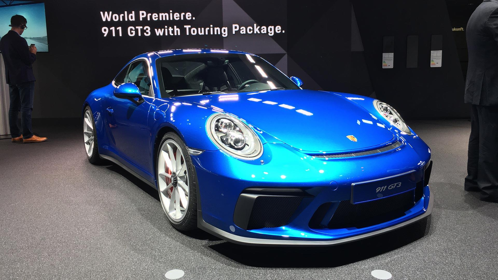 porsche 911 gt3 touring package hides 494 hp under smooth tail. Black Bedroom Furniture Sets. Home Design Ideas