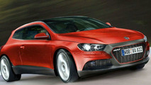 VW Scirocco artist illustration