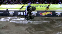 Monster truck backflip frontal