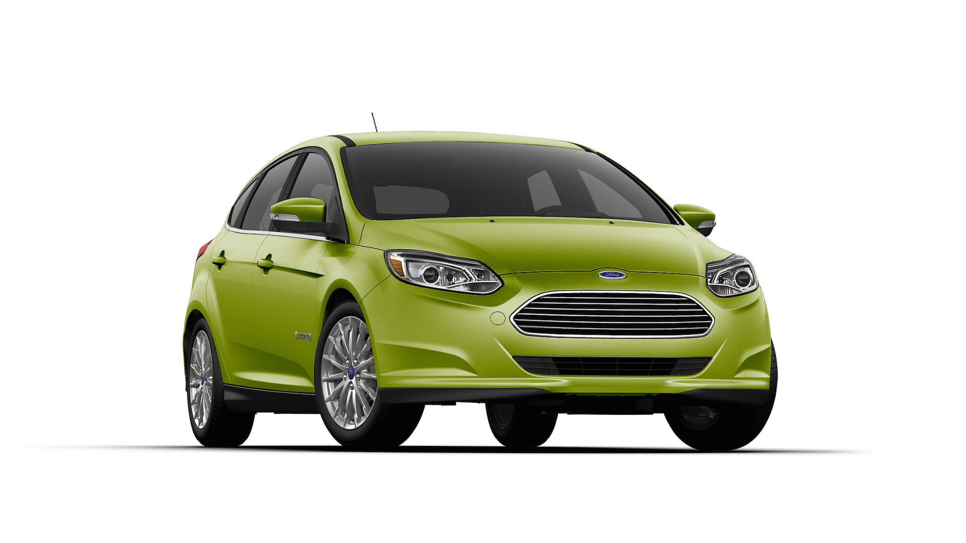 ford focus electric gets gaudy green paint job for st patrick 39 s day. Black Bedroom Furniture Sets. Home Design Ideas