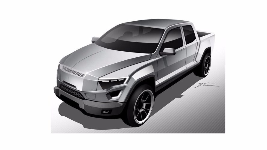 Elektrikli pick-up konsepti Yargıç Dredd'in iş aracına benziyor