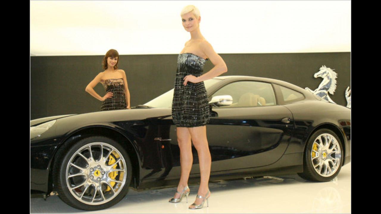 Schauen Sie mal: Der Kleidsaum reicht bis zum Radlauf. Wie würde es bei einem SUV aussehen?