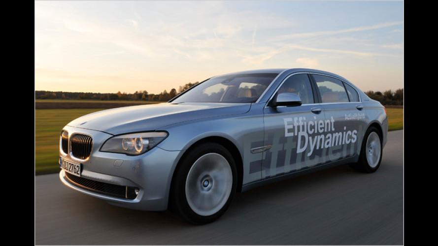 Sparen ganz oben: BMW ActiveHybrid 7 im Test