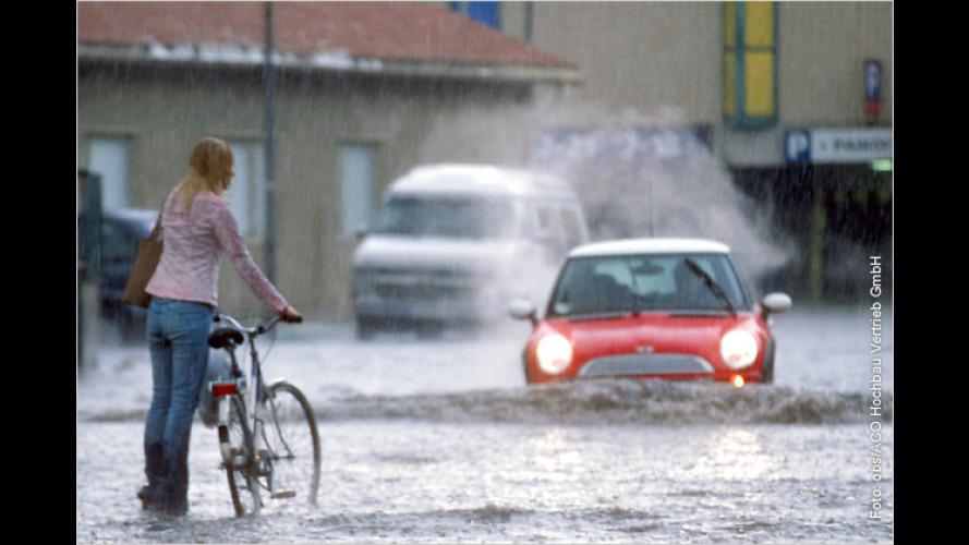 Hochwasser: Wie viel Wasser verträgt ein Auto?