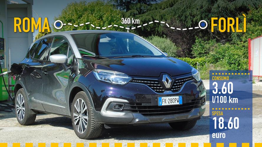 Renault Captur 1.5 dCi, la prova dei consumi reali