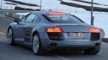Audi R8 spied testing new Dual-Clutch Transmissions in the Alps