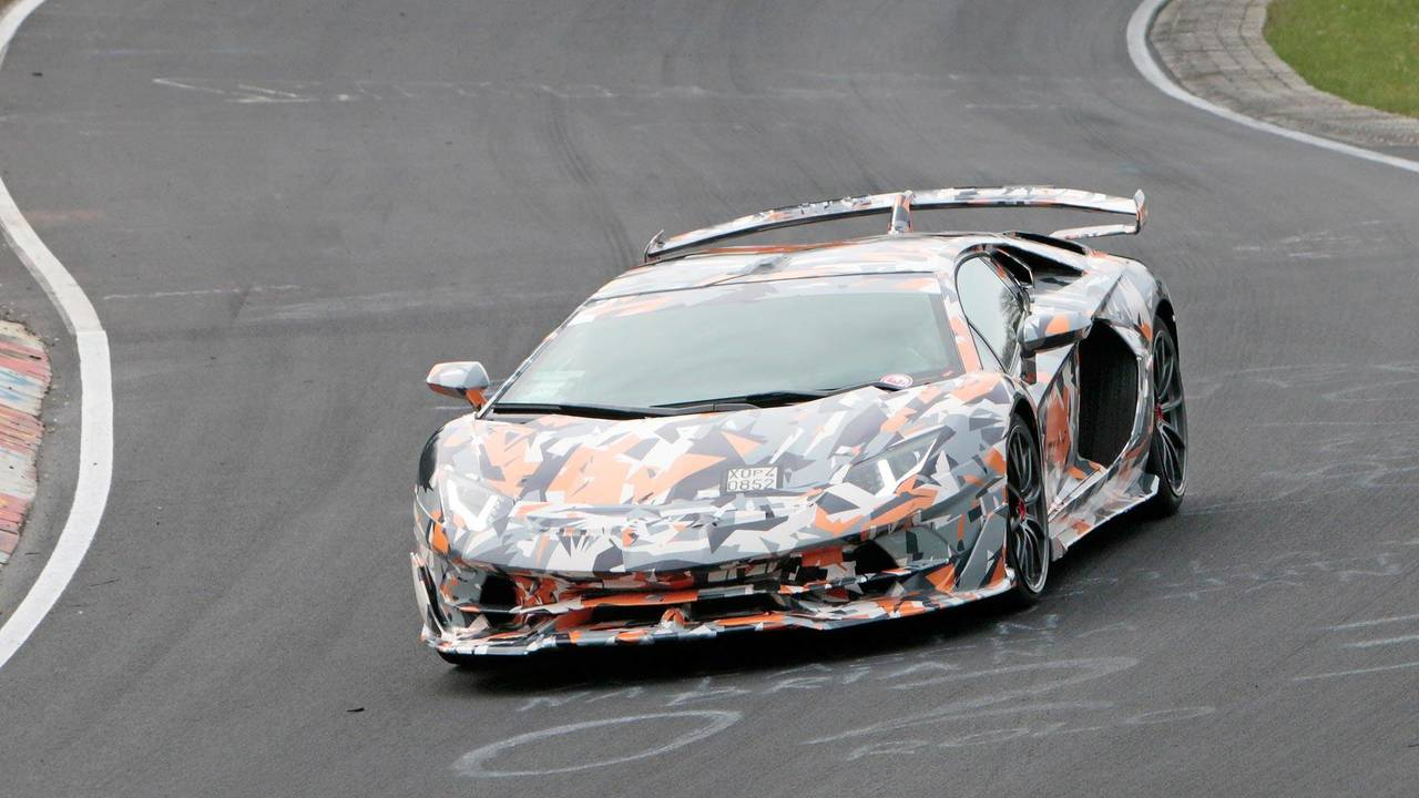 2019 Lamborghini Aventador SV Jota spy shots
